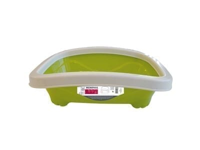 Memphis Cat Litter Tray with Rim