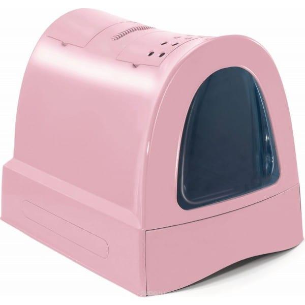 litiera pentru pisici zuma roz 40x56x42.5 cm