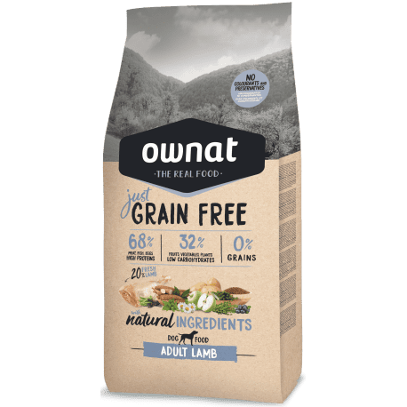 ownat grain free just adult lamb dog