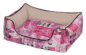 Petex bed for the dog vintage model Pink color 60X50X22 cm removebg preview