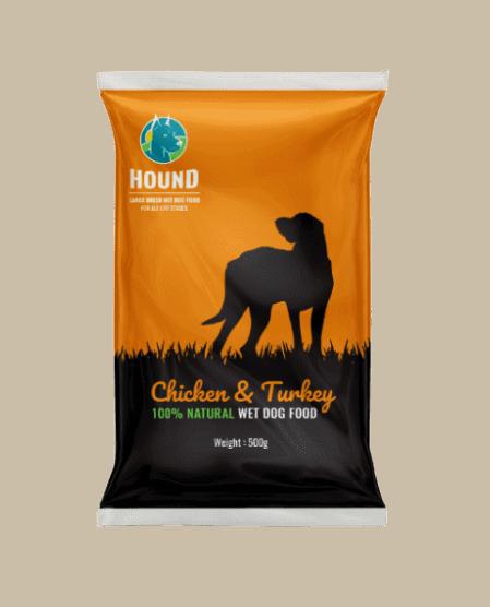 hound box dog food