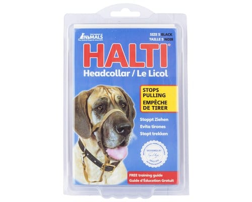 large HALTI HEAD COLLAR BLK SZ 5