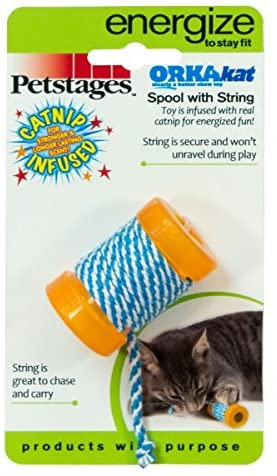 Petstages Okakat Catnip Infused Spool with String a