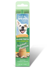 fresh breath by tropiclean peanut butter flavored oral care gel for dogs