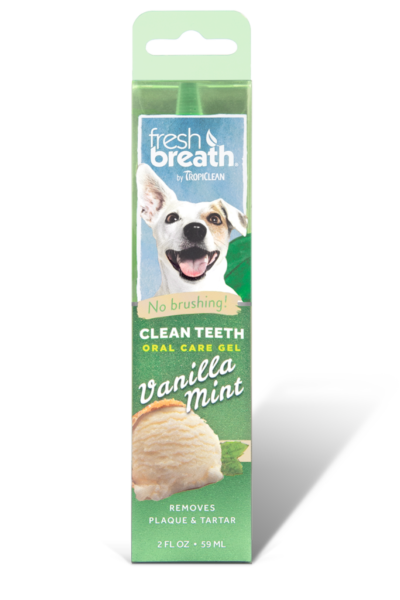 fresh breath by tropiclean vanilla mint flavored oral care gel for dogs
