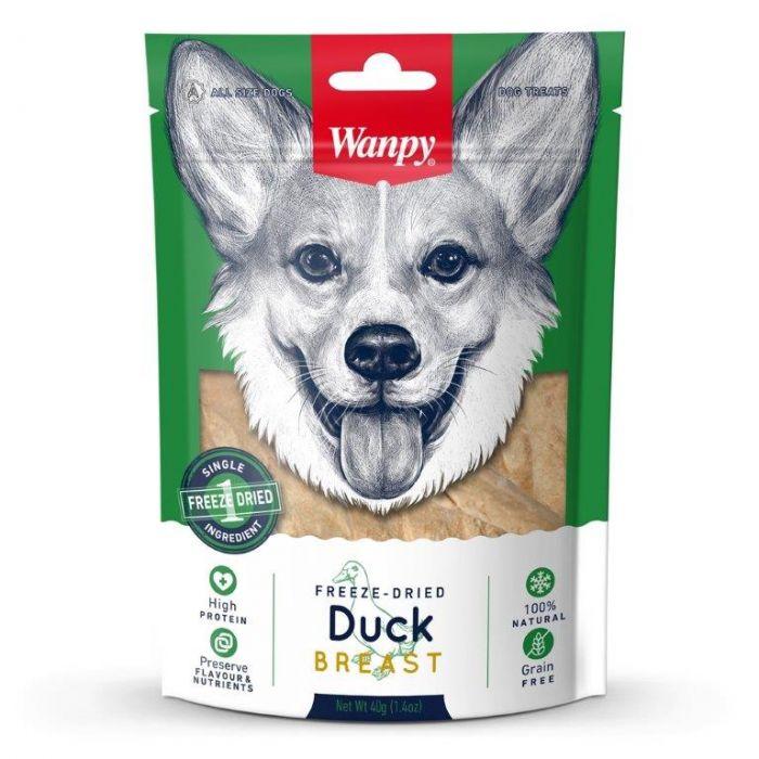 wanpy freeze dried duck breast dog treat 40g petshopsale